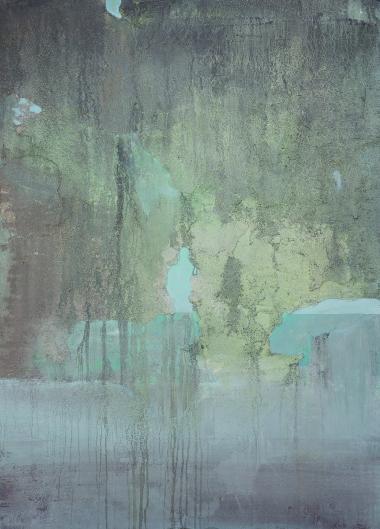 """Cavern Optic: oils, satls, on wood 24"""" x 36"""" 2015"""