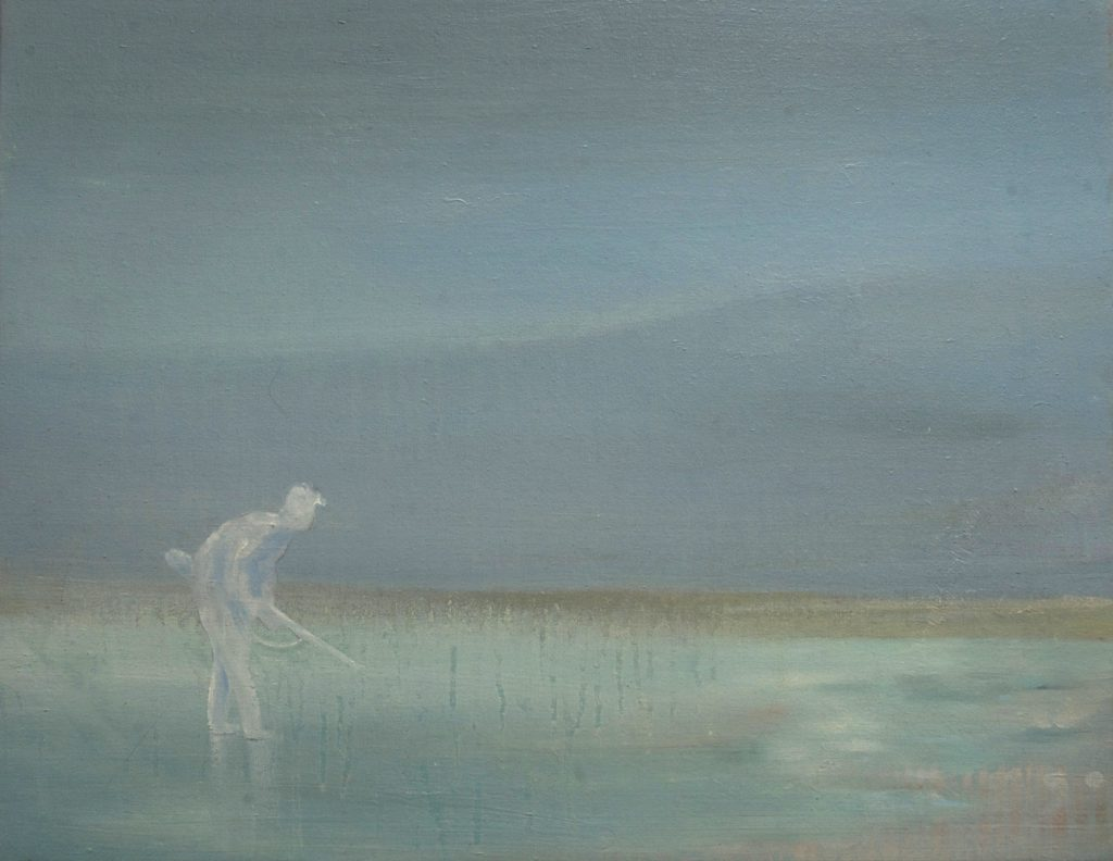 """Searcher SOLD: oils, on canvas 16"""" x 20"""" 2013"""